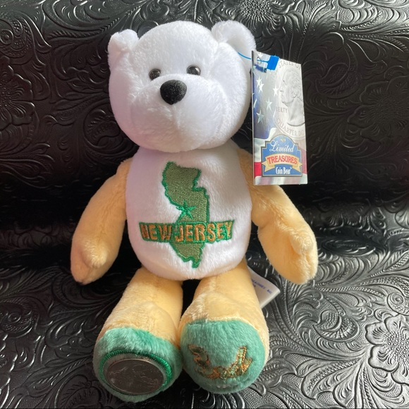 Limited Treasures coin bear—New Jersey (3rd state)
